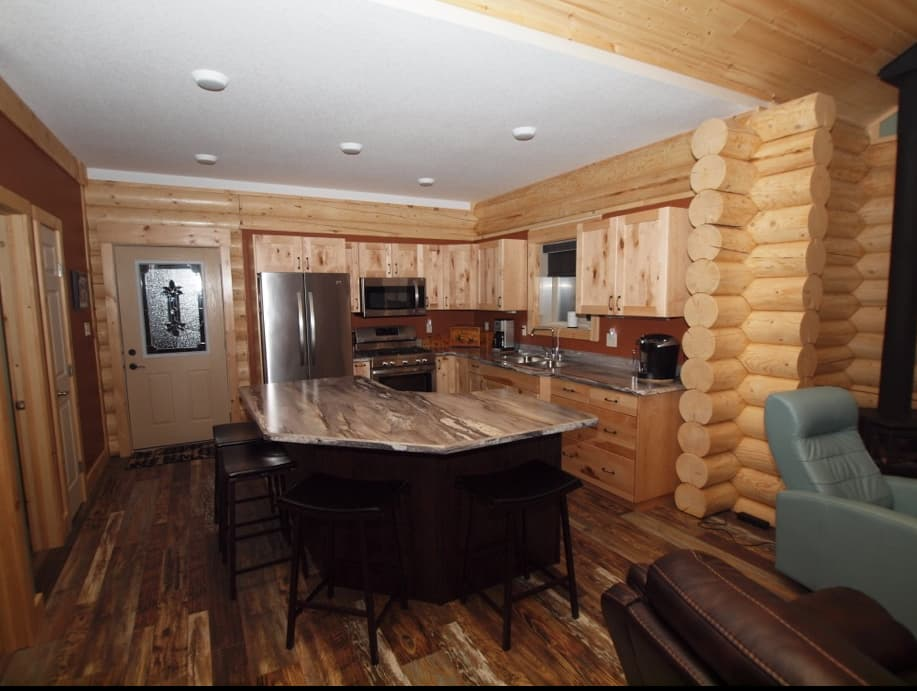 milled log package home