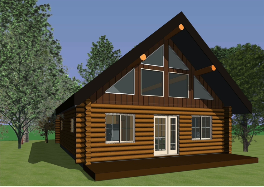 log home blueprint - The Emma