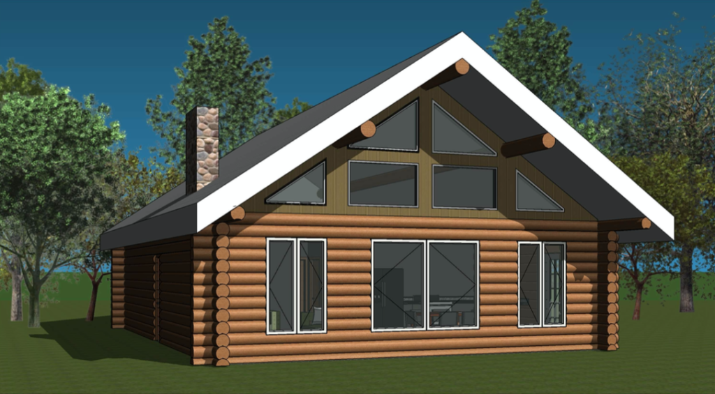 log home blueprint - Nora Nook