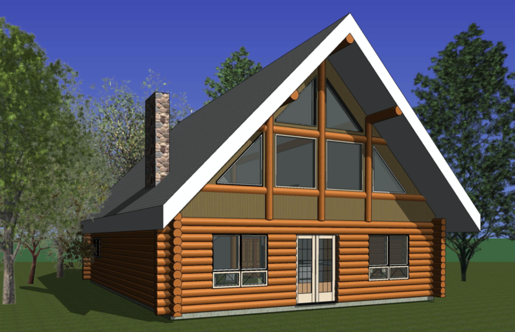 log home blueprint - Christopher Cove