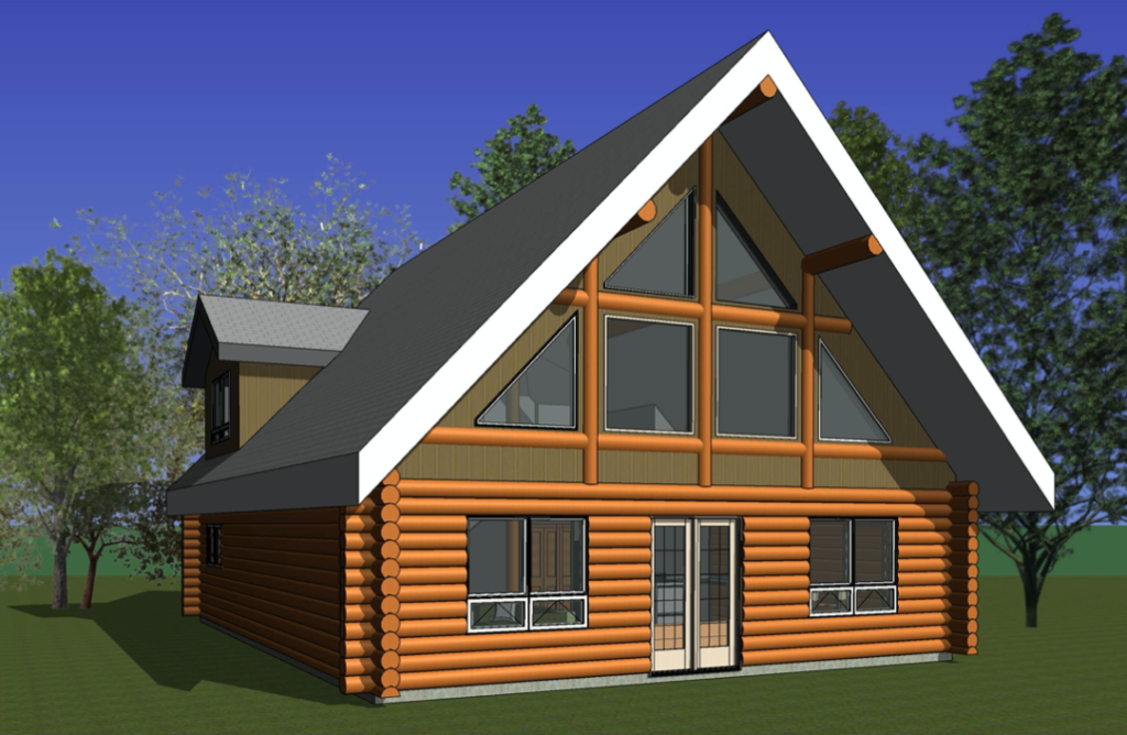 log home blueprint - Christopher Cove with Dormers