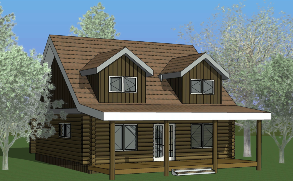 log home blueprint - Douglas Hideaway