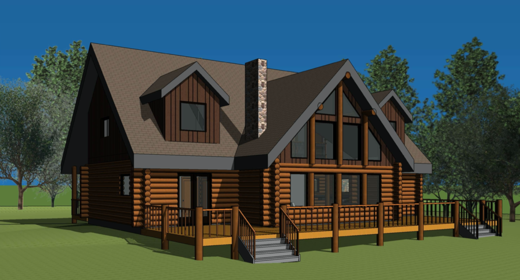 log home blueprint - Oscar Oasis